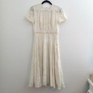 Ever New Midi Dress w Lace Appliqué